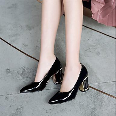 Bottier Similicuir 06665185 Printemps pointu Femme Noir Beige Bout Basique à Escarpin Talon Chaussures Chaussures Talons Rouge zF5qwU5