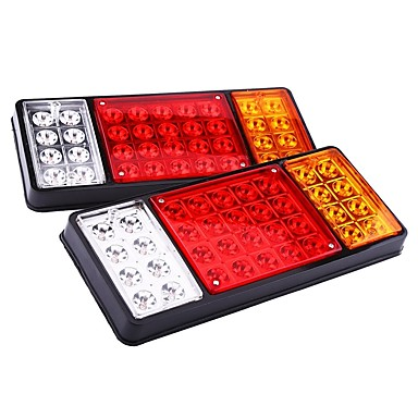 billige Baklys til bil-ziqiao 1 par 12v 36 led bilvogn hale lys varsellys baklykter vanntett baklys bak deler for tilhenger lastebil