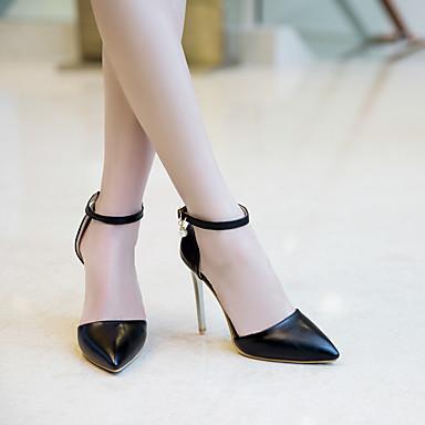 Femme Cuir Aiguille Noir Escarpin à Chaussures été Talon Talons pointu Faux Rouge Printemps 06758483 Basique Chaussures Bout Blanc qEwqZrxF
