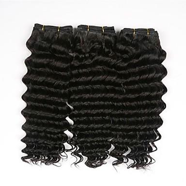 baratos Extensões de Cabelo Natural-3 pacotes Cabelo Eurásio Ondulado 8A Cabelo Humano Cabelo Humano Ondulado Extensor Extensões de Cabelo Natural Côr Natural Tramas de cabelo humano Venda imperdível Extensões de cabelo humano Todos