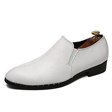 Bărbați Pantofi formali Piele / Imitație Piele Vară Mocasini & Balerini Alb / Negru / Gri / Party & Seară