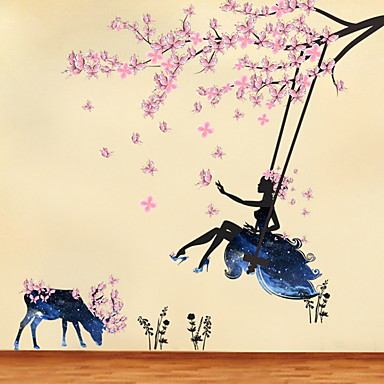 cheap Home Decor-Decorative Wall Stickers - Plane Wall Stickers Fairies Living Room / Bedroom