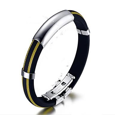 baratos Bangle-Bracelete Fashion silica Gel Pulseira de jóias Amarelo / Vermelho / Azul Para Presente Diário