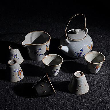8szt Porcelana Herbaciana zastawa żaroodporne ,  12.5*10*13;5.8*5.8*5;9.5*9.5*6.8cm