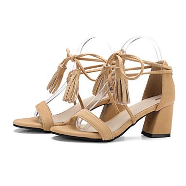 Chaussures Rose Femme Amande Printemps Cuir 06671808 Talon Bout été Nouveauté Noir Sandales Bottier Confort Gland ouvert Nubuck gd4qwp4