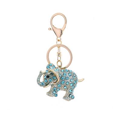 baratos Bijuteria de Mulher-Chaveiro Elefante Casual Fashion Anéis Jóias Azul Claro / Castanho Claro / Rosa Claro Para Presente Diário