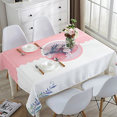 Nowoczesny Kwadrat Obrus Kwiaty / Geometric Shape Dekoracje stołowe