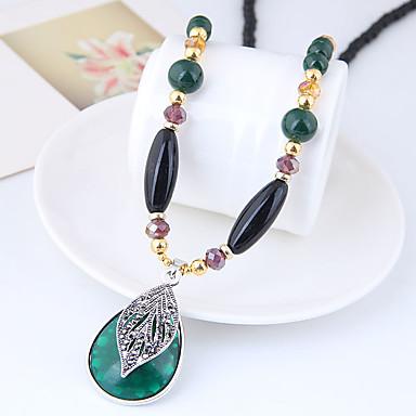 levne Dámské šperky-Náhrdelníky s přívěšky dlouhý náhrdelník Dlouhé Kapka dámy Vintage Evropský Módní Pryskyřice Slitina Tmavě zelená 78 cm Náhrdelníky Šperky Pro Denní