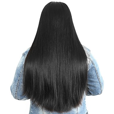 cheap Human Hair Wigs-Human Hair Unprocessed Human Hair Lace Front Wig Side Part style Peruvian Hair Straight Wig 250% Density with Baby Hair Natural Hairline For Black Women Unprocessed Bleached Knots Natural Women's