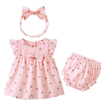 Bebelus Fete De Bază Fruct Manșon scurt Set Îmbrăcăminte / Copil