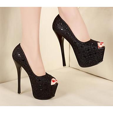 Talons Talon Noir 06656080 Argent Aiguille à Basique Femme Printemps Escarpin Polyuréthane Chaussures Chaussures 8v10Z