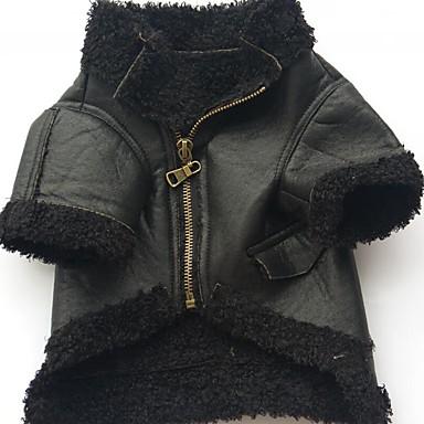 Câini / Pisici / Animale de Companie Haine Îmbrăcăminte Câini Mată Negru / Cafea / Maro PU (Poliuretan) Costume Pentru animale de companie