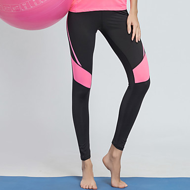 BARBOK Pentru femei Peteci Pantaloni de yoga - Gri+Verde, Negru / roz Sport Dresuri Ciclism Alergat, Fitness, Sală de Fitness Îmbrăcăminte de Sport Ușor, Uscare rapidă, Respirabil Strech