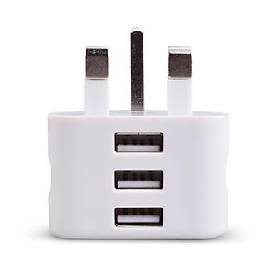 Încărcător Portabil Încărcător USB Priză UK 3 Porturi USB 2.1 A 100~240 V pentru