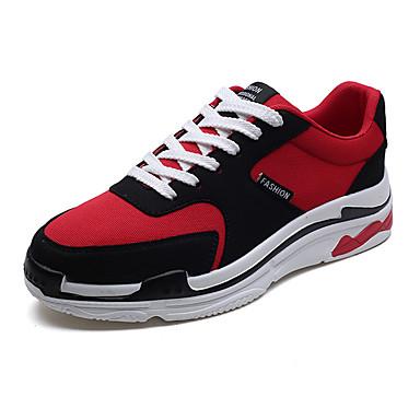 Męskie Buty Materiał Jesień Lekkie podeszwy Tenisówki Black / Gray / Czerwony