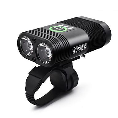 Double LED Eclairage de Velo Eclairage de Vélo Avant Phare Avant de Moto Cyclisme Imperméable Portable Largage rapide Lithium-ion polymère 2400 lm Blanc Camping / Randonnée / Spéléologie Cyclisme -