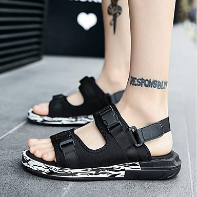 Men's Knit Summer Comfort / Sandals Black / Gray / Comfort Red b850a3
