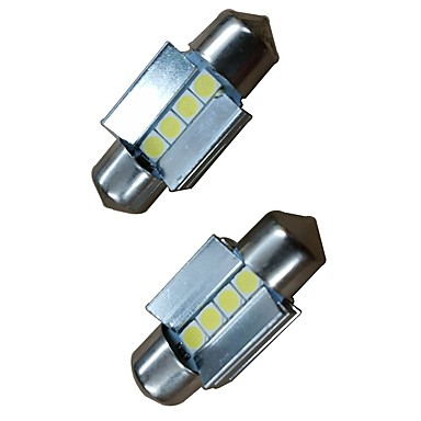 2pcs 31mm auto leuchtbirnen 4w 400lm 4 led. Black Bedroom Furniture Sets. Home Design Ideas