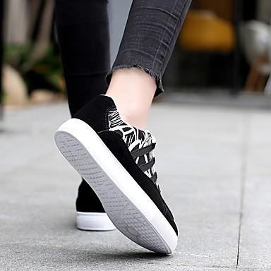 rond Polyuréthane Noir Or Femme Printemps Plat et Talon été 06714693 Noir Bout Basket Chaussures Confort ZqSxwpzq