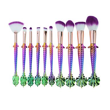 10-opakowanie Pędzle do makijażu Profesjonalny Zestawy pędzli do makijażu Przyjazne dla środowiska / Miękka Plastik