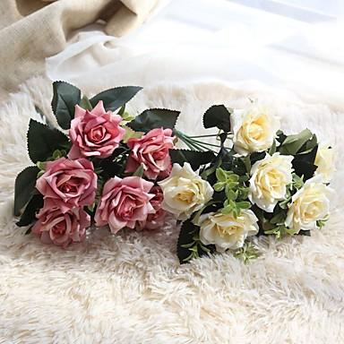 Sztuczne Kwiaty 1 Gałąź Klasyczna Modern / Contemporary Roses Bukiety na stół