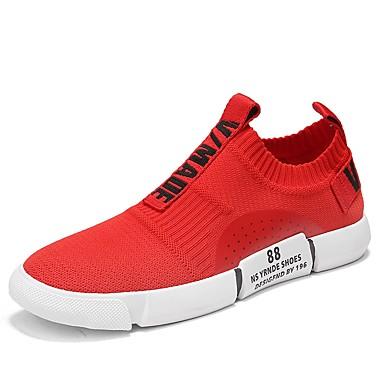 Leichte Komfort Sneakers Herrn Sohlen Weiß Gestrickt Sommer WDH2YE9I