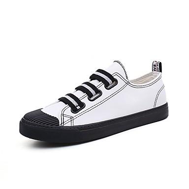 Męskie Komfortowe buty Płótno Lato Adidasy Biały / Czarny