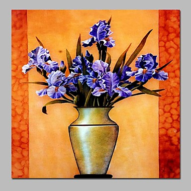 Hang-pictate pictură în ulei Pictat manual - Natură moartă Clasic pânză