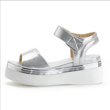 Femme Or Sandales Automne Confort Creepers Cuir Polyuréthane Nappa Printemps 06650574 Argent Chaussures rxUwqAr