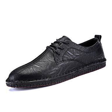Męskie Komfortowe buty Skóra Jesień Oksfordki Czarny / brązowy