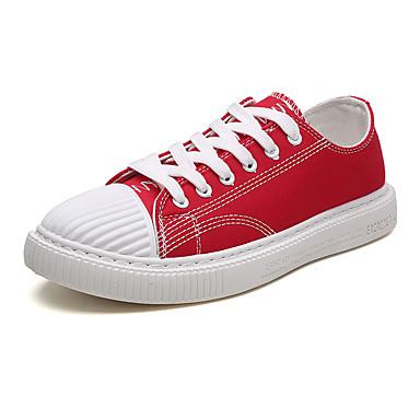 Męskie Komfortowe buty Płótno Lato Adidasy Biały / Czarny / Czerwony
