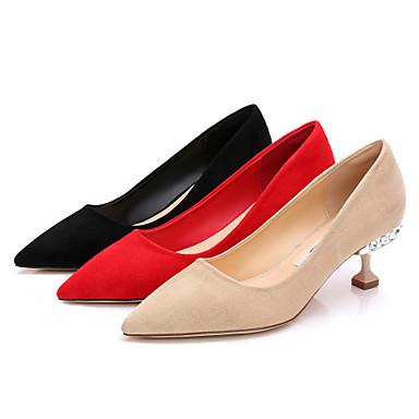 Rouge Escarpin 06713953 à Basique pointu Talons Aiguille Talon Fourrure Printemps Bout Strass Chaussures Chair Chaussures Fausse été Femme Noir 1qafXf