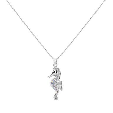 hesapli Moda Kolyeler-Uçlu Kolyeler At Başı Hayvan Bayan Vintage Renkli alaşım Beyaz 50 cm Kolyeler Mücevher Uyumluluk Parti Mezuniyet Hediye