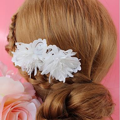 abordables Coiffes-Tissu Coiffe avec Cristal / Fleur 1 Pièce Mariage / Occasion spéciale Casque