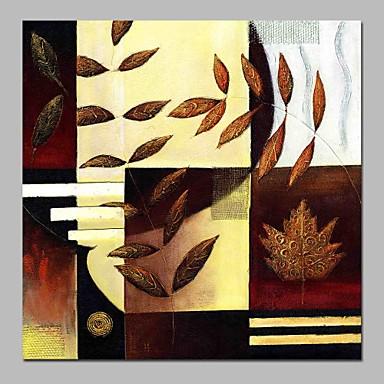 Hang-Malowane obraz olejny Ręcznie malowane - Streszczenie / Kwiatowy / Roślinny Klasyczny Brezentowy