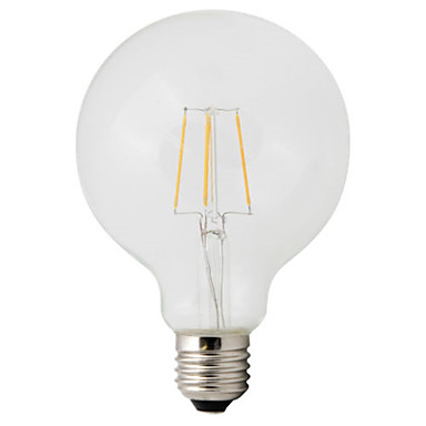 1pc 4W 360lm E26 / E27 LED Glühlampen G95 4 LED-Perlen COB Dekorativ Warmes Weiß 220-240V / 1 Stück / RoHs