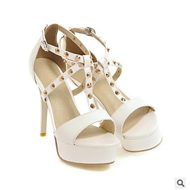 Talon Aiguille Noir 06681944 Eté Chaussures Blanc Femme Polyuréthane Confort Rose Sandales wTXZ8TSqc