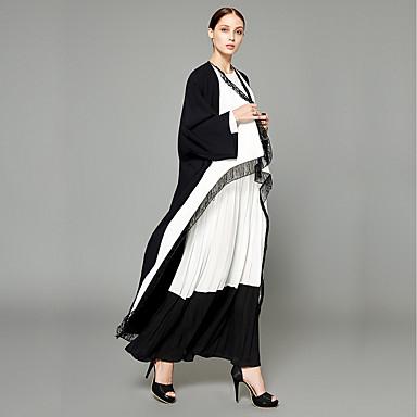 Abaya Damskie Moda miejska / Wyrafinowany styl Kreatywne / Przezroczyste i zwiewne / Wielokolorowa Poliester