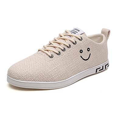 Bărbați Pantofi de confort Pânză / Tul Vară Adidași Alb / Gri / Kaki / De Atletism / În aer liber