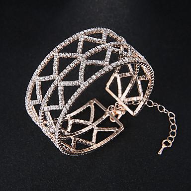 abordables Brazaletes-Mujer Brazaletes Pulseras de puño Europeo Moda Legierung Pulsera pulsera Plata / Oro Rosa Para Boda Diario