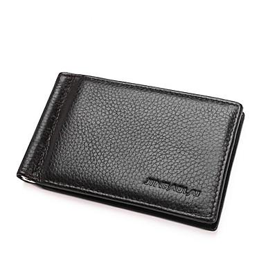 genți pentru bărbați portofel din piele nappa cu fermoar negru / cafea