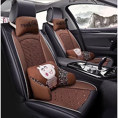 ODEER Perne Scaun Auto Coperți pentru scaune Negru / Maro textil / Piele Artificială Obișnuit for Παγκόσμιο Toți Anii Toate Modele