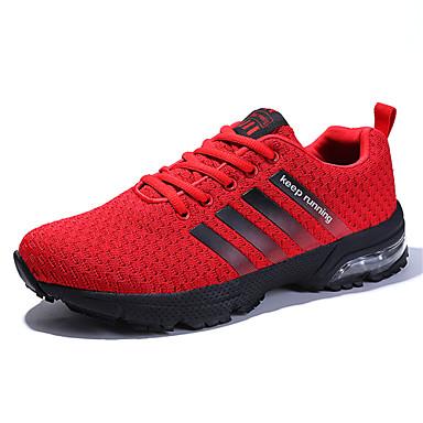 Pentru femei Pantofi Croșet Toamnă / Primavara vara Confortabili Adidași de Atletism Alergare Toc Drept Gri / Rosu / Albastru