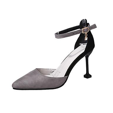 Eté Vert amp; Gris Noir à pointu D'Orsay Bout Chaussures Deux Chaussures Pièces Talons Daim Aiguille Talon Marche 06751732 Femme Ep4xTqwI