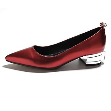 Bleu Rouge Chaussures pointu Basique à Nappa Strass Eté Femme royal Chaussures Champagne Talons 06770630 Escarpin Heel Cuir Block Bout xdZSwdqX67