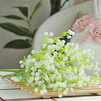 Artificial Flowers 1 Branch Classic Rustic Baby Breath Tabletop Flower