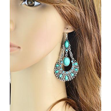 voordelige Oorbellen-Dames Lang Druppel oorbellen oorbellen Peer Dames Standaard Modieus Sieraden Rood / Blauw / Roze Voor Dagelijks Afspraakje 1 paar