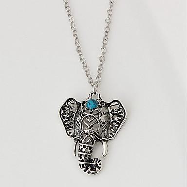 Pentru femei Coliere cu Pandativ - Elefant Clasic, Modă Argintiu 29+4 cm Coliere Bijuterii 1 buc Pentru Zilnic
