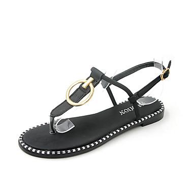 Pentru femei PU Vară Pantof cu Berete Sandale Toc Drept Negru / Verde