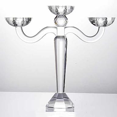 Modern / Contemporan sticlă Suporturi Lumânări Candelabra 1 buc, Lumânare / Suport pentru lumânări